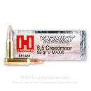 Premium 6.5 Creedmoor Ammo For Sale - 95 Grain V-MAX Ammunition in Stock by Hornady Varmint Express - 200 Rounds