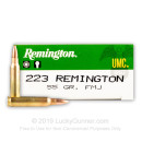 Cheap 223 Rem Ammo For Sale - 55 Grain MC Ammunition in Stock by Remington UMC - 20 Rounds