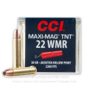Premium 22 Mag 30gr TNT JHP Ammunition From CCI Maxi-Mag - 50 Rounds