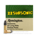 Cheap 22 LR Subsonic Ammo For Sale - 38 gr LRN - Remington Subsonic Ammunition In Stock - 500 Rounds