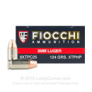 Bulk 9mm Ammo For Sale - 124 Grain XTP HP Ammunition in Stock by Fiocchi - 500 Rounds