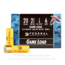 """Cheap 20 ga Ammo For Sale - 2-3/4"""" 7/8 oz #6 lead shot by Federal Game-Shok - 250 Rounds"""