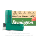 "Cheap 12 Gauge Ammo For Sale - 2-3/4"" 1-1/8 oz. #8 Lead Shot Ammunition in Stock by Remington Gun Club - 25 Rounds"