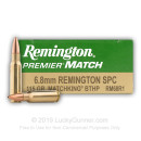 6.8 SPC Ammo In Stock  - 115 gr - Sierra MatchKing BTHP - Remington 6.8 Special Purpose Cartridge Ammunition For Sale Online