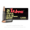 Cheap 7.62x39mm Ammo For Sale - 124 Grain FMJ Ammunition in Stock by Tula - 40 Rounds