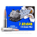 Bulk 7.62x54r Ammo For Sale - 174 gr FMJ Ammunition In Stock by Silver Bear - 500 Rounds