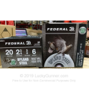 """Cheap 20 Gauge Ammo For Sale - 2-3/4"""" 3/4oz. #6 Shot Ammunition in Stock by Federal Upland Steel - 25 Rounds"""
