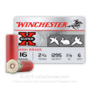 """Bulk16 Gauge Ammo For Sale - 2-3/4"""" 1-1/8 oz. #6 Shot Ammunition in Stock by Winchester Super-X - 250 Rounds"""
