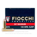 357 Mag Ammo For Sale - 125 gr SJHP Fiocchi Ammunition In Stock