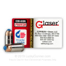Premium 9mm Ammo For Sale - 80 Grain Pre-Fragmented HP Ammunition in Stock by Glaser Safety Slug - 20 Rounds
