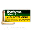 Premium 45-70 Government Ammo For Sale - 405 Grain SP Ammunition in Stock by Remington Core-Lokt - 20 Rounds