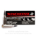 Premium 300 WSM Ammo For Sale - 150 Grain Polymer-Tipped Ammunition in Stock by Winchester Supreme Ballistic Silvertip - 20 Rounds