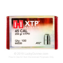 Bulk 45 Colt Bullets For Sale - 250 Grain XTP JHP Bullets in Stock by Hornady - 100