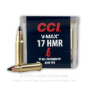 Bulk 17 HMR Ammo For Sale - 17 gr V-Max - Polymer Tipped - CCI Ammunition In Stock - 2000 Rounds