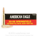 Bulk 30-06 Ammo For Sale - 150 Grain FMJBT Ammunition in Stock by Federal American Eagle - 500 Rounds