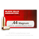 Premium 44 Mag Ammo For Sale - 240 Grain JHP Ammunition in Stock by Black Hills - 50 Rounds