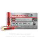 "Bulk 410 Gauge Ammo For Sale - 2-1/2"" 1/5 oz. Rifled Slug Ammunition in Stock by Winchester Super-X - 150 Rounds"