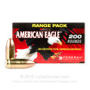 Cheap 9mm Ammo For Sale - 115 Grain FMJ Ammunition in Stock by Federal American Eagle - 200 Rounds