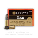 Bulk 22 LR Subsonic Target Ammo For Sale - 40 gr solid Target Ammunition by Federal Premium Gold Medal In Stock - 500 Rounds