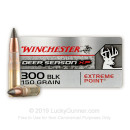Cheap 300 AAC Blackout Ammo For Sale - 150 Grain Polymer Tipped Ammunition in Stock by Winchester Deer Season XP - 20 Rounds