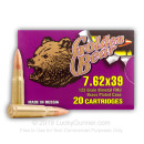 Cheap 7.62x39 Ammo For Sale - 123 gr FMJ Ammunition by Golden Bear In Stock - 20 Rounds