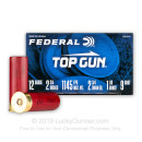 "Cheap 12 Gauge Ammo - 2-3/4"" Lead Shot Target shells - 1-1/8 oz - #9 - Federal Top Gun - 25 Rounds"
