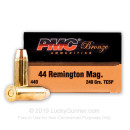 Cheap 44 Magnum Ammo For Sale - 240 gr SP Ammunition by PMC In Stock - 25 Rounds