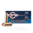 38 Special Ammo For Sale - 130 gr Full Metal Jacket Ammunition by Prvi Partizan - 500 Rounds