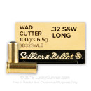 32 S&W Long Ammo For Sale - 100 gr Lead Wadcutter - 32 S&W Long Ammunition by Sellier & Bellot For Sale - 50 Rounds