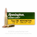 Cheap 7mm-08 Ammo For Sale - 140 Grain SP Ammunition in Stock by Remington Core-Lokt - 20 Rounds