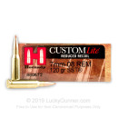 7mm-08 Ammo - Hornady Custom Lite 120 Grain JHP - 20 Rounds