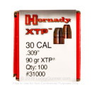 Bulk 7.62×25mm Tokarev Bullets For Sale - 90 Grain XTP JHP Bullets in Stock by Hornady - 100