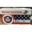 Cheap 40 S&W Ammo For Sale - 180 Grain FMJ Ammunition in Stock by Winchester USA Target Pack - 50 Rounds