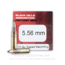 Premium 5.56x45mm Ammo For Sale - 77 Grain TMK Ammunition in Stock by Black Hills  - 50 Rounds