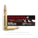 Premium 308 Ammo For Sale - 150 Grain Bonded HP Ammunition in Stock by Winchester Powermax Bonded - 20 Rounds