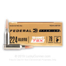 Premium 224 Valkyrie Ammo For Sale - 78 Grain Barnes TSX Ammunition in Stock by Federal - 20 Rounds