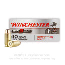 40 S&W Ammo - Winchester Win3Gun 180gr FMJ - 50 Rounds