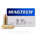 38 Special Ammo For Sale - 130 gr FMJ Magtech Ammunition In Stock