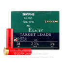 Cheap 28 Ga Fiocchi #8 Target Ammo For Sale - Fiocchi Premium Exacta 28 Ga Shells - 25 Rounds