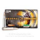 Premium 270 Ammo For Sale - 150 Grain SPBT Ammunition in Stock by Federal Premium - 20 Rounds