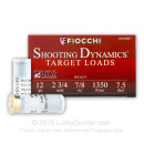"Bulk 12 Gauge Ammo For Sale - 2-3/4"" 7/8oz #7.5 Shot Ammunition in Stock by Fiocchi - 250 Rounds"