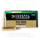223 Rem Ammo For Sale - 42 gr Frangible BallistiClean Ammunition In Stock by Federal American Eagle