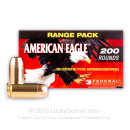 Cheap 40 S&W Ammo For Sale - 180 Grain FMJ Ammunition in Stock by Federal American Eagle - 200 Rounds