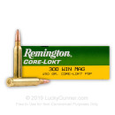 Cheap 300 Winchester Magnum Ammo For Sale - 150 Grain PSP Ammunition in Stock by Remington Core-Lokt - 20 Rounds