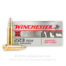 Bulk 223 Rem Winchester Ammo For Sale - 55 gr JSP Ammunition In Stock by Winchester Super-X - 200 Rounds