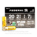"Cheap 20 Gauge Ammo For Sale - 2-3/4"" 3/4oz. #7.5 Shot Ammunition in Stock by Federal Upland Steel - 25 Rounds"