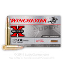 Premium 30-06 Springfield Ammo For Sale - 125 Grain JSP Ammunition in Stock by Winchester Super-X - 20 Rounds