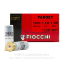 "Bulk 12 Gauge Ammo For Sale - 2-3/4"" 1-1/8 oz. #7.5 Shot Ammunition in Stock by Fiocchi Target Shooting Dynamics - 250 Rounds"