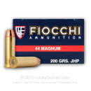 Bulk 44 Mag Ammo For Sale - 200 Grain SJHP Ammunition in Stock by Fiocchi - 500 Rounds