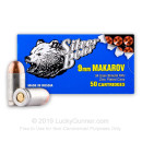 Cheap 9mm Makarov (9x18mm) Ammo For Sale - 94 gr FMJ Silver Bear Ammunition For Sale - 50 Rounds